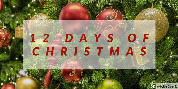 Picture of banner of 12 days of christmas