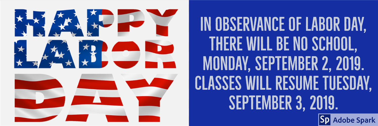 Image of a Labor Day website banner