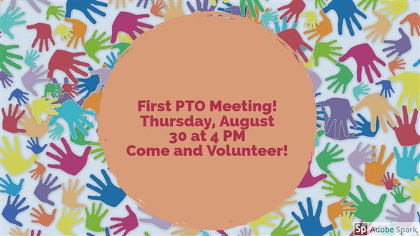 Picture of PTO meeting information