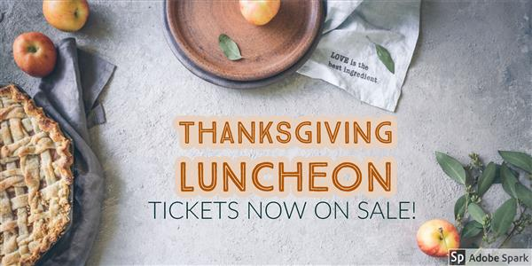 Picture of thanksgiving luncheon announcement