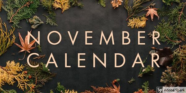 Picture of the calendar of november