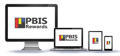 PBIS Rewards Icon on a monitor, laptop, tablet and cell phone