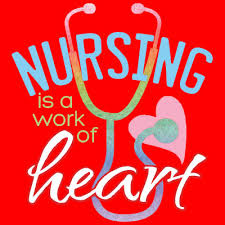 Stethescope and heart with nurse thank you message