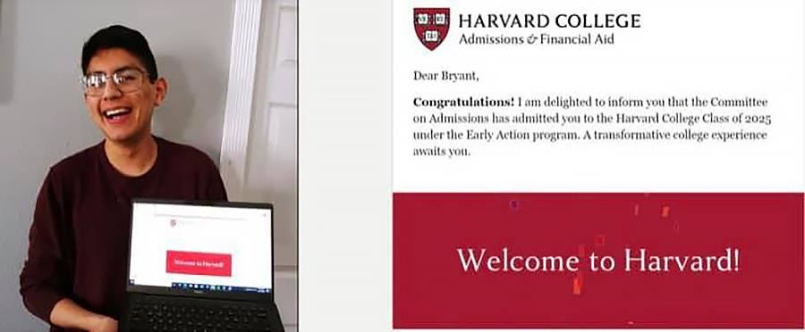 Bryant Valenzuela, CECA student, accepted to Harvard