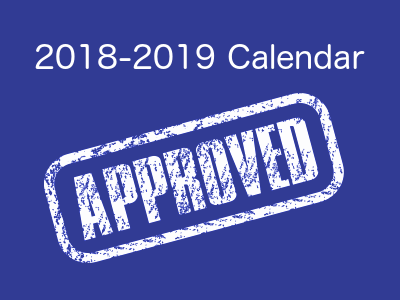 2018-19 Calendar Approved