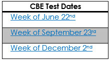 Credit By Exam Dates