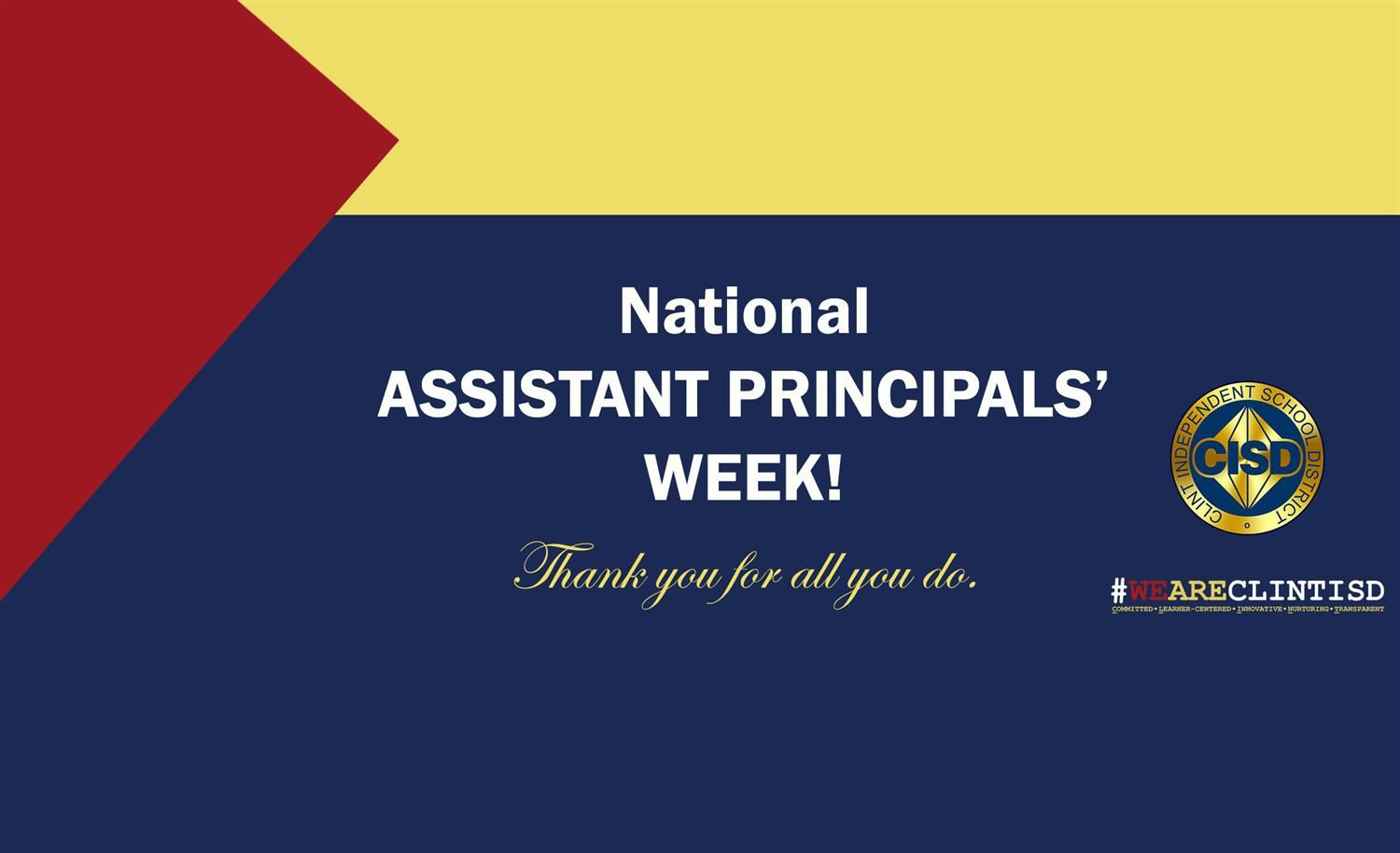 National Assistant Principal's Week