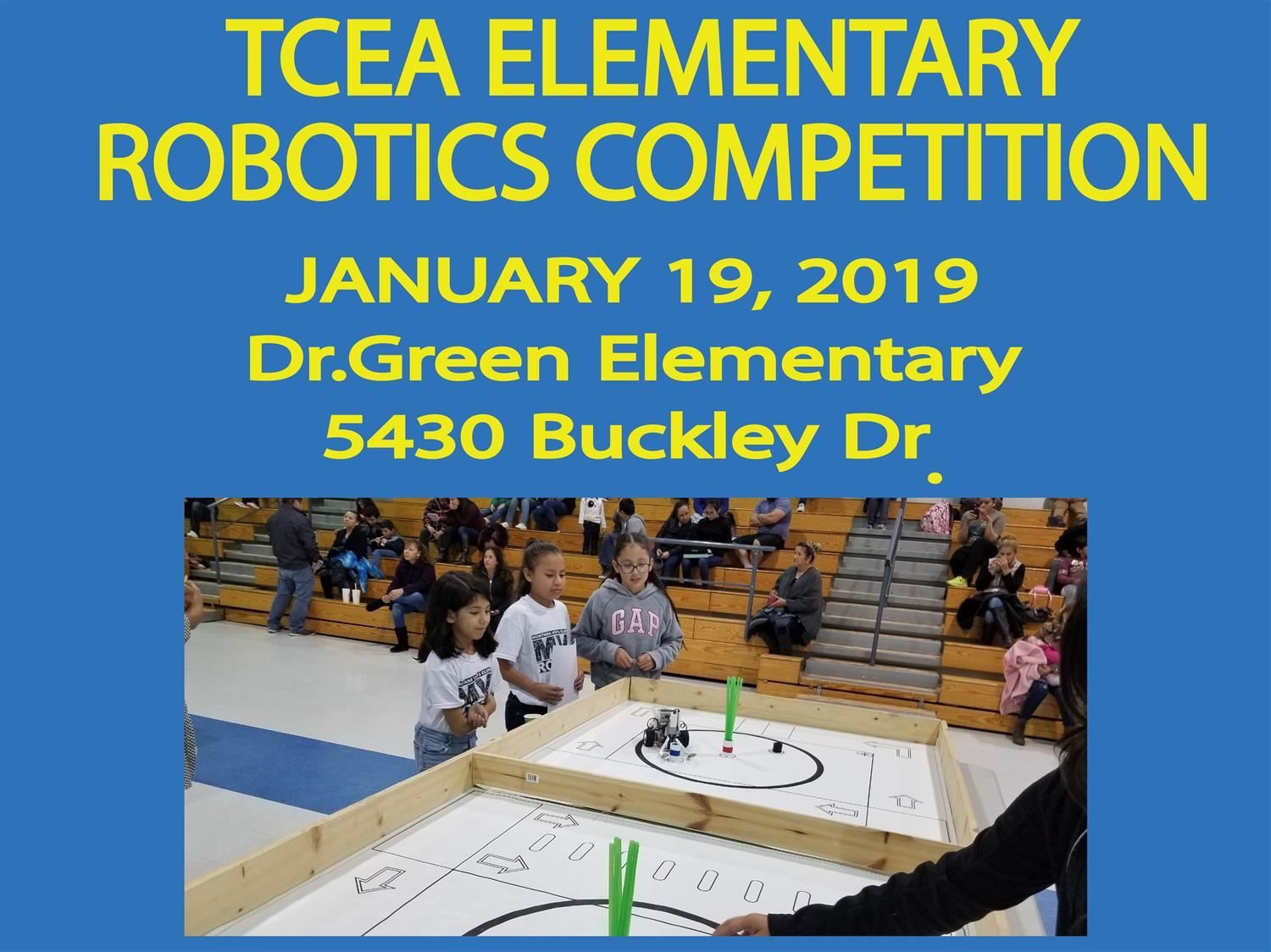 TCEA Region 19 - Lego EV3 Robotics Competition Jan. 18, 2019