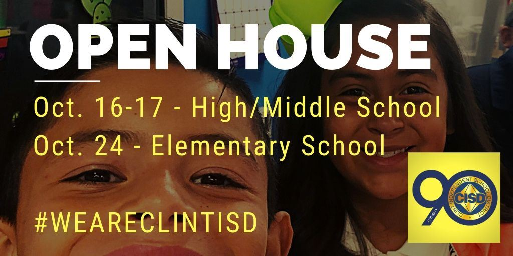 Join Us for Open House Report Card Nights! Secondary Oct. 16-17, Elementary Oct. 24