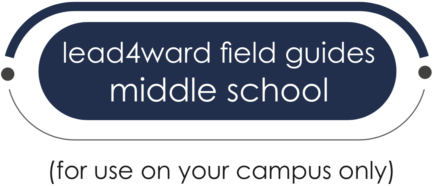 lead4ward field guides middle school button