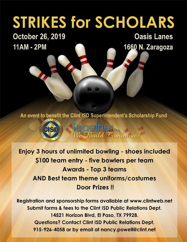 2019 Strikes for Scholars Bowling Tourney