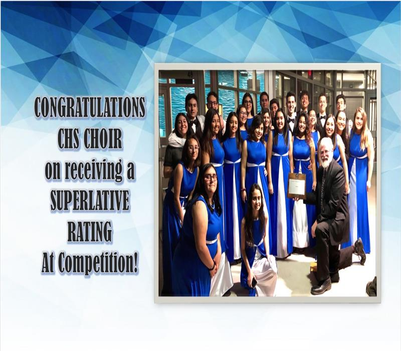 CHS Choir receives Superlative Rating