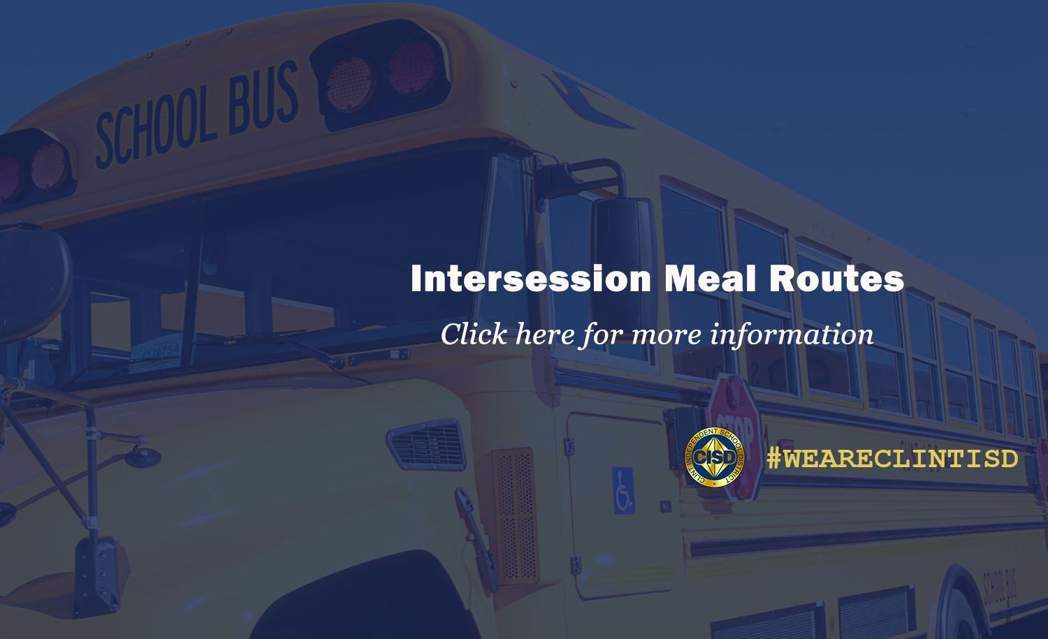 Intersession Meal Routes